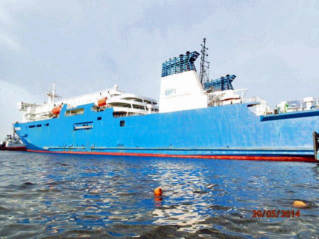 Подводное освидетельствование ж/д парома Усть-Луга