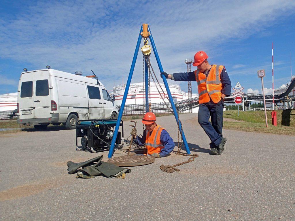 Ремонт сетей противопожарного водоснабжения нефтяного терминала Высоцк